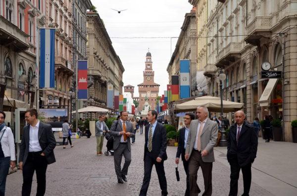 Обеденный перерыв в Милане