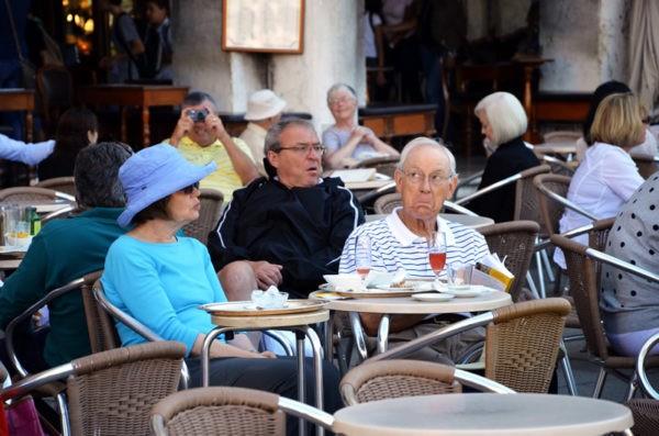 Европейские туристы в Венеции