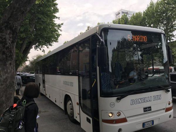 Автобусный маршрут из Римини в Сан-Марино